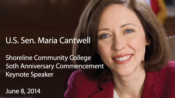 Sen. Maria Cantwell to be Shoreline commencement speaker