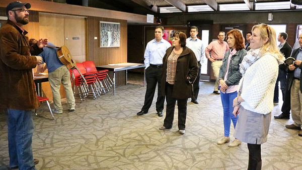 City Council tours college theater, film facilities