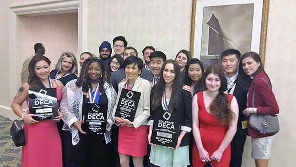 DECA team all business at international competition