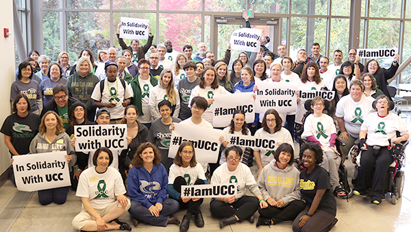 Shoreline rallies for #IamUCC