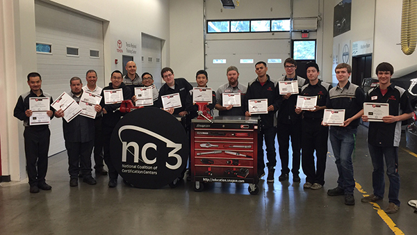 Students get torque certifications by Snap-on and NC3